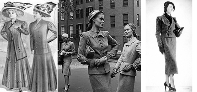 История появления английского женского костюма