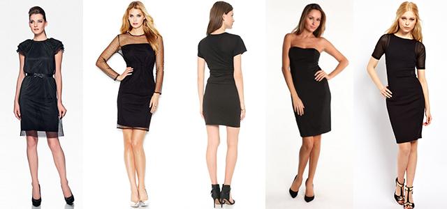 Купить чёрное коктейльное платье