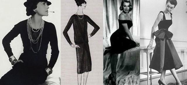 чёрное коктейльное платье - История