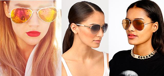 Солнцезащитные женские очки авиаторы. Кому идут женские очки авиаторы  de9b293915fee