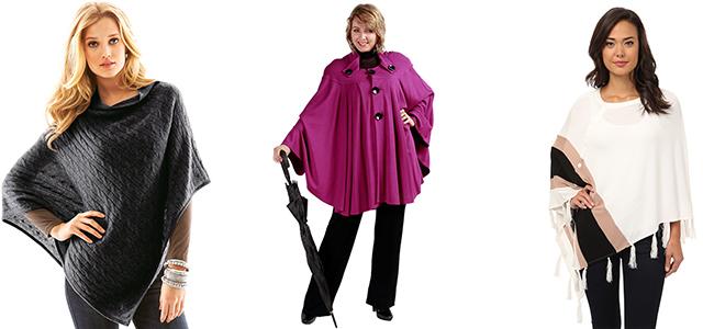 Модные пальто пончо