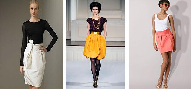 Купить модную юбку тюльпан